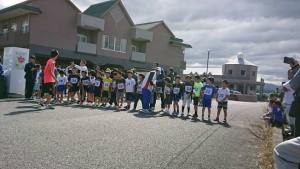 息子、地域のマラソン大会へ出場