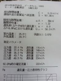 板野町 F様邸 気密検査