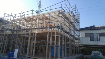 徳島市内T様邸新築工事建て方