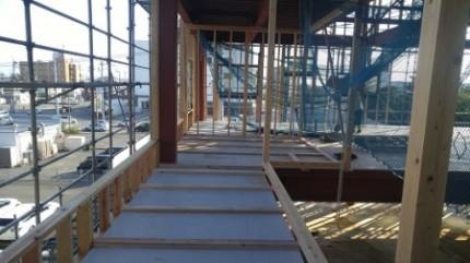 2階バルコニー施工後
