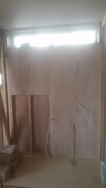トトイレ、洗面所の下地施工