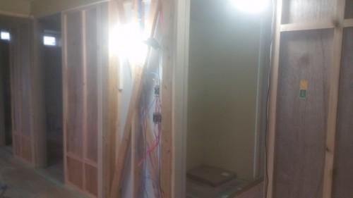 引込みポケット戸の施工