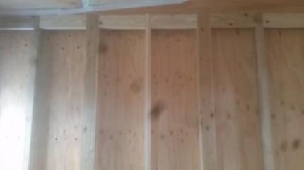 天井の境に下地施工