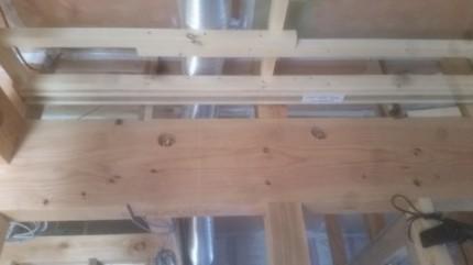リビングの天井下地施工