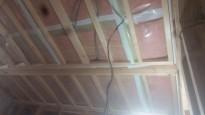 勾配天井の下地施工
