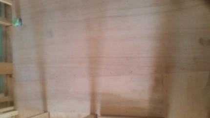 床のコンパネ貼り