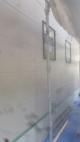 外壁工事も進んでいます