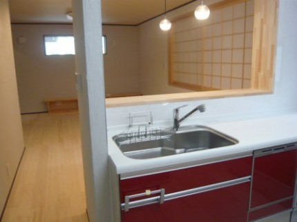徳島市内K様邸2階キッチン