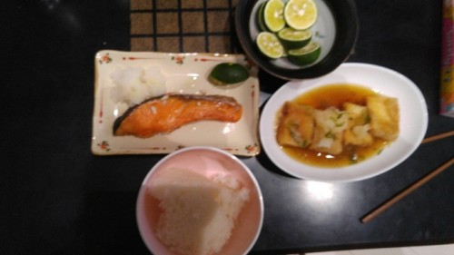 晩御飯の紅鮭
