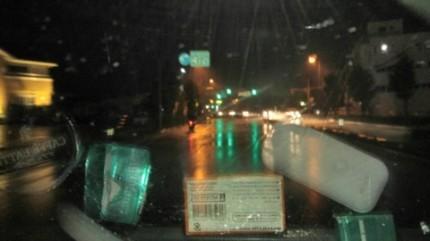 帰り道の台風直撃
