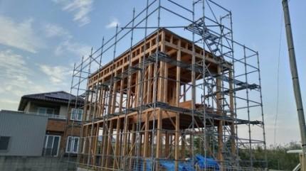 石井町S様邸新築工事 建て方