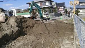 地盤改良掘削作業