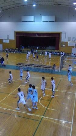 息子のバスケットボールの試合
