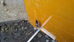 隅の垂直と位置の確認