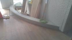 玄関入り口アーチ状のベンチ