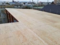 屋根合板貼り