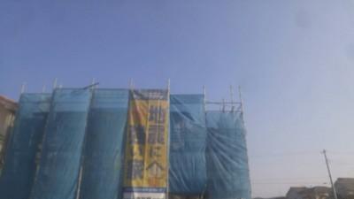 鳴門市高島の新築工事現場