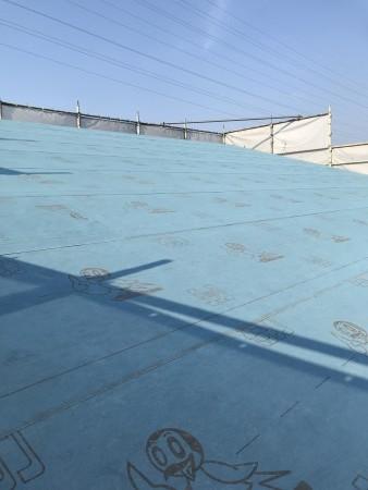 八万町T様邸新築工事屋根合板