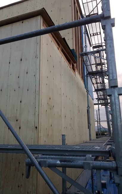 耐力壁の施工