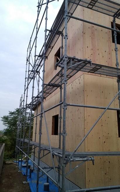 耐力壁施工