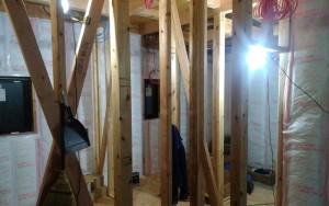 1階断熱材施工