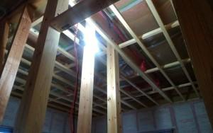二階主寝室天井下地施工