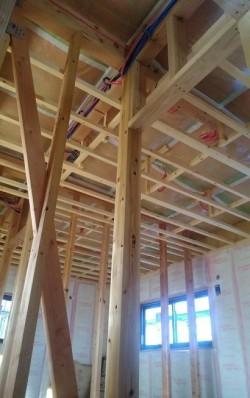 2階の天井下地施工