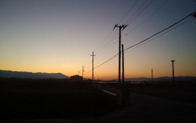 『初冬』の夕日