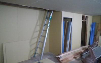 階段周りの施工