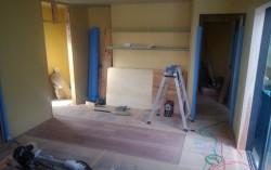 キッチンカウンター下地施工