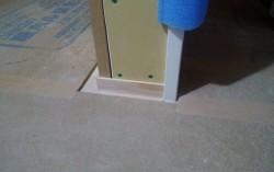 2階の巾木施工