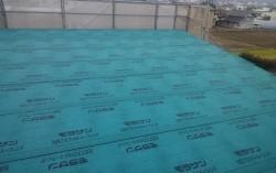 野地板貼り、ルーフィングまで施工完了