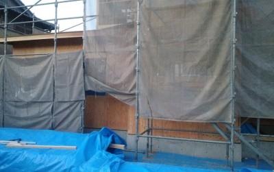 1階耐力壁施工