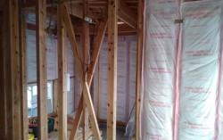 壁断熱の施工