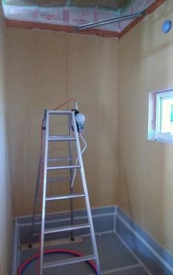 壁ボード張り施工
