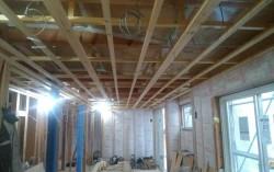 リビング天井下地施工