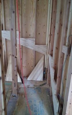 階段取り付け作業