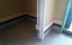 玄関タイルの下地、ラス下地貼り