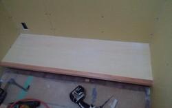 書斎部屋家具作り 底棚