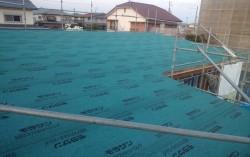 屋根の防水シート『ルーフィング』敷き