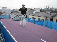大和町 K様邸 ホームリサーチ検査4回目(屋根・ルーフィング)