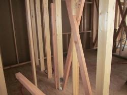 柱、場間柱施工