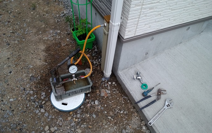 北島町S様邸水圧検索