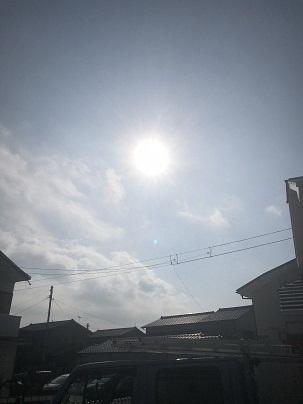 太陽がサンサン