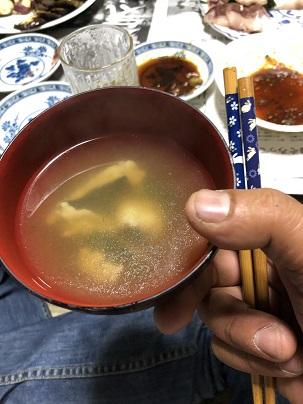 幻のカニの味噌汁