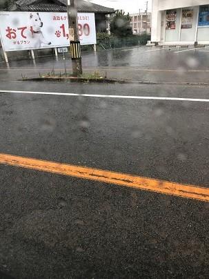 土砂降りの大雨