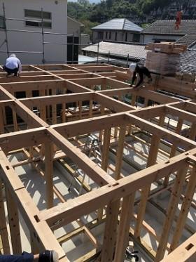 鴨島町O様邸新築工事前建前