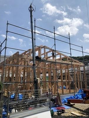 鴨島町O様邸新築工事 前建