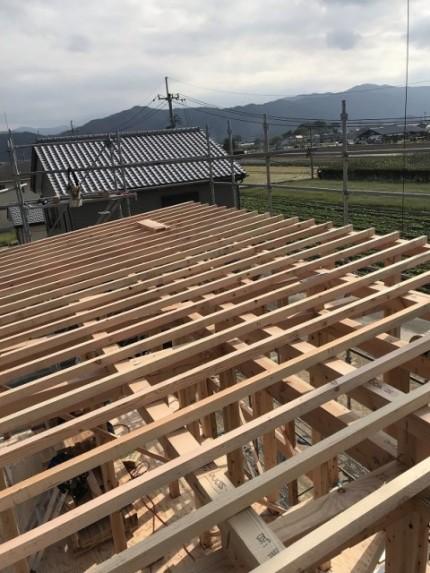 石井町S様邸新築工事 建方