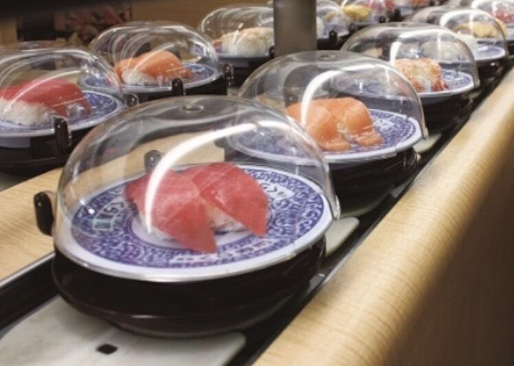 運動会の終わりにくら寿司で食事